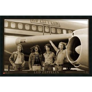Led Zeppelin   Airplane Framed Art