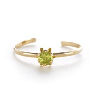 14k Yellow Gold Peridot Birthstone RIng