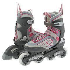 K2 Skates Athena Grey/White/Pink