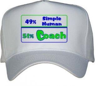 49% Simple Human 51% Coach White Hat / Baseball Cap