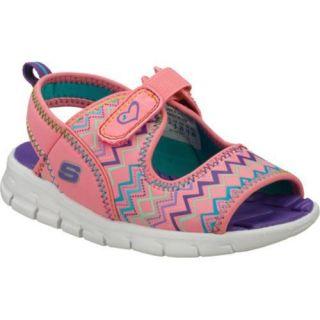 Girls Skechers Synergize Sea Stars Pink/Green