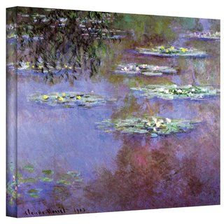 Claude Monet Sea Roses II Gallery Wrapped Canvas