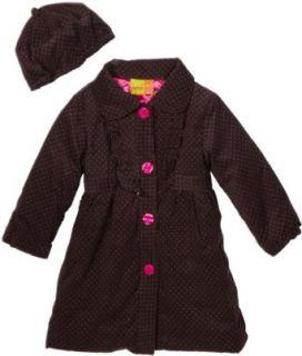 Penelope Mack Girls 2 6x Polka Dot Printed Corduroy Coat