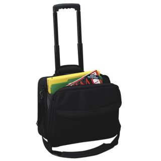 Simply Portable Wheeled Computer Case, Black