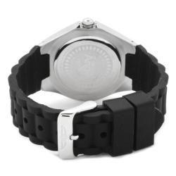 Invicta Womens Angel White Dial Black Silicon Watch