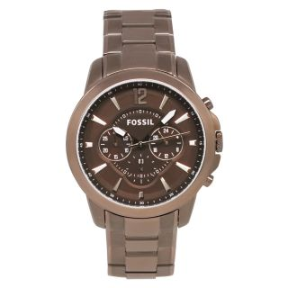 Fossil Mens Classic Brown Steel Watch