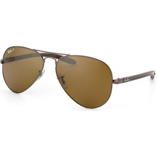 Ray Ban Unisex RB 8307 Brown Carbon Fiber Aviator Sunglasses