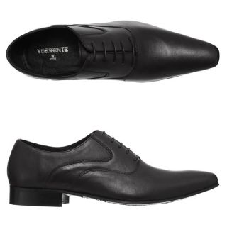 TORRENTE Chaussures Richelieu cuir Lance IB Homme Noir   Achat / Vente