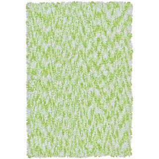 Shagadelic Green Chenille Twist Swirl Rug (30x50)