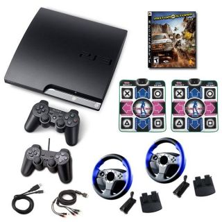 Sony Playstation 3 160GB Super Friends Holiday Bundle  Dance Pads
