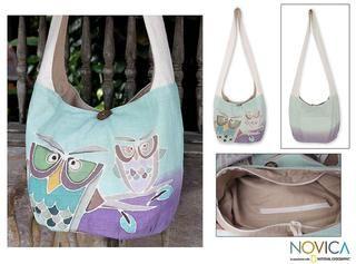 Cotton Owl Sisters Sling Handbag (Thailand)