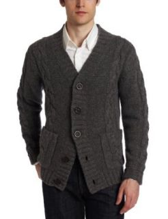 Earnest Sewn Mens Cable Knit Cardigan Clothing