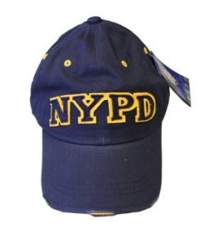 NYPD Baseball Hat New York Police Department Navy & Yellow