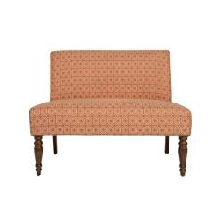 angeloHOME Bradstreet Art Deco Tile Terracotta Upholstered Armless