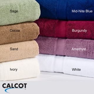 Calcot 600 GSM Supima Cotton Zero Twist Bath Towels (Set of 4