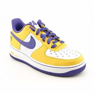 Nike Boys Air Force 1 White/ Varsity Purple Basketball Shoes