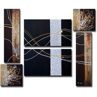 Abstract 261 6 piece Gallery wrapped Canvas Art Set