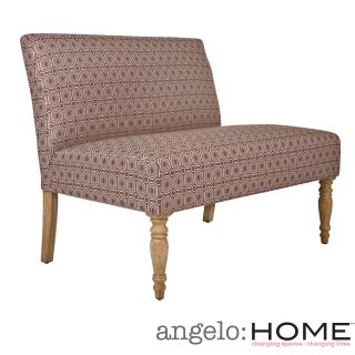 angeloHOME Bradstreet Art Deco Tile Dusty Plum Upholstered Armless