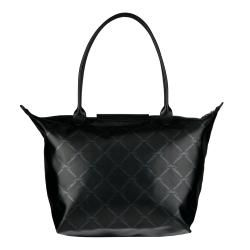 Longchamp Metallic Black Nylon Tote Bag