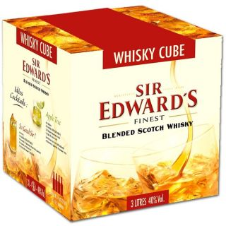 Bag in Box Sir Edwards Blended Scotch Whisky 40% 3L   Equilibré, long