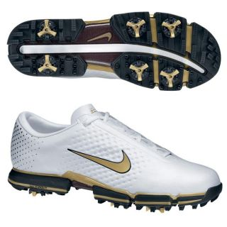 Nike Mens Air Zoom Vapor II Met White/ Gold Golf Shoes