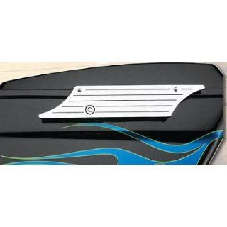 DBI Chrome Billet Saddlebag Latch Cover For Harley Davidson Touring