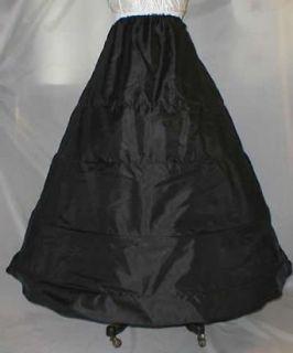4 Bone Hoop Civil War Slip Skirt Costume (140DS) (Regular