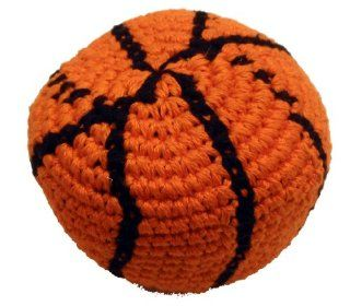 Basketball Hacky Sack / Footbag   Hand Crocheted Made in