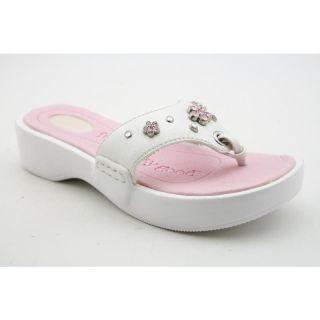 Dr. Scholls Girlss Treasure Whites Sandals (Size 2)