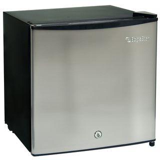 EdgeStar 1.1 cubic foot Stainless Steel Fridge / Freezer with Lock