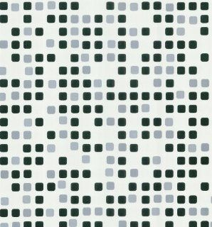Brewster 141 62168 Geometric Seaglass Tiles Wallpaper, White