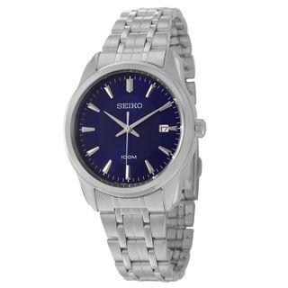 Seiko Mens Bracelet Stainless Steel Blue Dial Watch