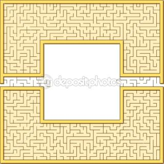 Antic maze frame  Vector stock © Alexey Chechulin #7443409