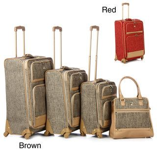 Oleg Cassini 4 piece Luggage Spinner Set