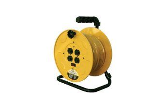 Reelcraft LH2080 143 Hand Crank Extension Cord Reel with 80 Feet of 14