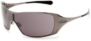 Oakley Womens Dart Sunglasses,Black Chrome Frame/Warm