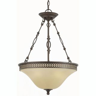 York Energy Star 3 light English Bronze Pendant Light
