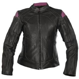 Xelement Womens Rally Black/Purple Motorcycle Jacket SZ L