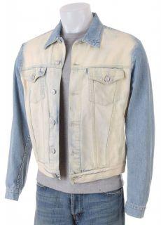 Versace Mens Bleached Denim Jacket