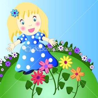 Cute little girl (vector version)  Vector Stock © Ruslan Zalivan