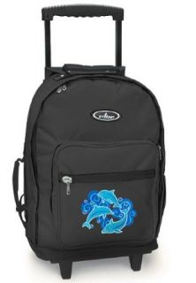 DOLPHIN Rolling Backpack Dolphins   Wheeled Travel or