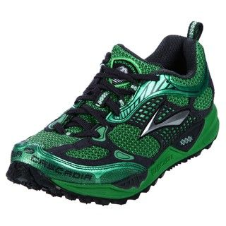 Brooks Mens Cascadia Green Athletic Trail Shoes
