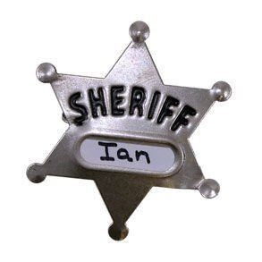 Large Metal Sheriff Badge
