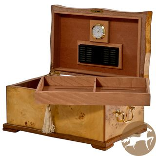 Christopher Knight Natural Wood veneer Cedar lined MDF Cigar Humidor