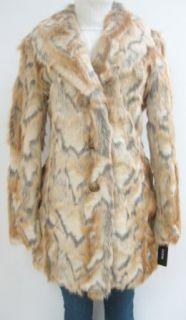 Guess Faux Fur Walker Coat, Jacket, Natural, Large, Mf422