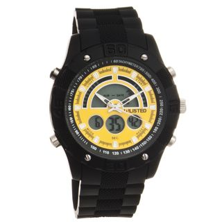 Unlisted by Kenneth Cole Mens Rubber Strap Watch