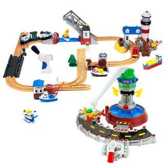 GeoTrax Rail & Road System Air & Sea Combo Pack Toys