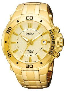 Pulsar Mens PAR148 Kinetic Gold Tone Bracelet Gold Tone Case