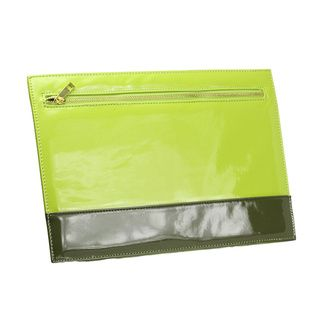 Nila Anthony Two tone Lime Green Envelope Clutch