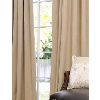 Signature Wheat Velvet 96 inch Blackout Curtain Panel